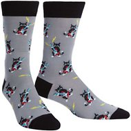 "Sock It to Me ""Rock Pawty"" Men's Crew Socks, One Size"