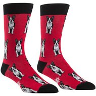 Sock It to Me Boston Terrier Men's Crew Socks, One Size