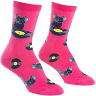 "Sock It to Me ""Cat Scratch"" Women's Crew Socks, One Size"