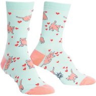 "Sock It to Me ""Smitten Kitten"" Women's Crew Socks, One Size"