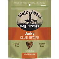 Walk About Grain-Free Quail Jerky Dog Treats, 5.5-oz bag