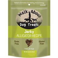 Walk About Grain-Free Alligator Jerky Dog Treats, 5.5-oz bag