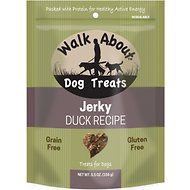 Walk About Grain-Free Duck Jerky Dog Treats, 5.5-oz bag