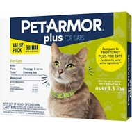 PetArmor Plus Flea & Tick Spot Treatment for Cats, over 1.5 lbs