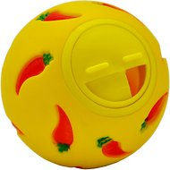 Niteangel Snack Ball Small Animal Treat Dispensing Toy, Yellow