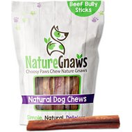 "Nature Gnaws Jumbo Bully Sticks 5 - 6"" Dog Treats, 6 count"