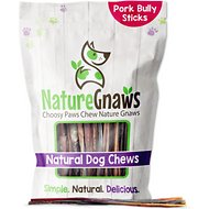 "Nature Gnaws Extra Thin Pork Bully Sticks 5 - 6"" Dog Treats, 50 count"