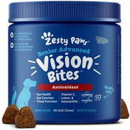 Zesty Paws Eye Vision with Lutein & Omega 3 +  Astaxanthin Chicken Flavor Senior Dog Supplement, 90 count