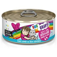 BFF OMG Lots-O-Luck! Duck & Tuna Dinner in Gravy Grain-Free Canned Cat Food, 5.5-oz, case of 8