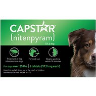 Capstar Flea Tablets for Dogs, 26-125 lbs, 6 count