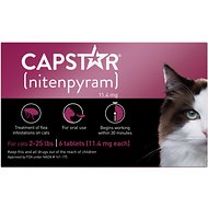 Capstar Flea Tablets for Cats 2-25 lbs, 6 count