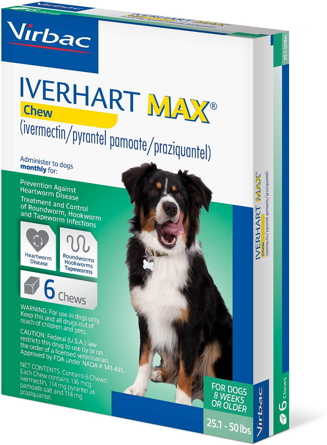 Iverhart Max Soft Chew 25 1-50lbs, 6 treatments