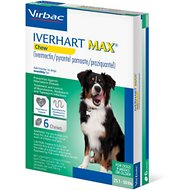 Iverhart Max Soft Chew 25.1-50lbs, 6 treatments