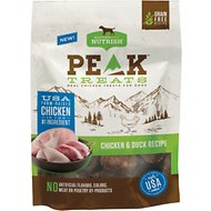 Rachael Ray Nutrish PEAK Grain-Free Chicken and Duck Recipe Dog Treats, 3-oz bag
