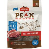 Rachael Ray Nutrish PEAK Grain-Free Beef and Bison Recipe Dog Treats, 12-oz bag