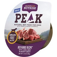 Rachael Ray Nutrish PEAK Natural Grain-Free Red Range Recipe with Lamb & Beef Wet Dog Food, 3.5-oz, case of 8