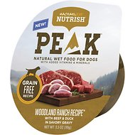 Rachael Ray Nutrish PEAK Natural Grain-Free Woodland Ranch Recipe with Beef & Duck Wet Dog Food, 3.5-oz, case of 8