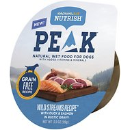 Rachael Ray Nutrish PEAK Natural Grain-Free Wild Streams Recipe with Duck & Salmon Wet Dog Food, 3.5-oz, case of 8