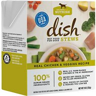 Rachael Ray Nutrish DISH Stews Natural Grain-Free Real Chicken & Veggies Wet Dog Food, 11-oz, case of 6