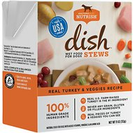 Rachael Ray Nutrish DISH Stews Natural Grain-Free Real Turkey & Veggies Wet Dog Food, 11-oz, case of 6