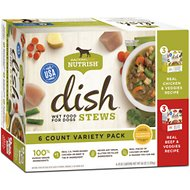 Rachael Ray Nutrish DISH Stews Natural Grain-Free Variety Pack Wet Dog Food, 11-oz, case of 6