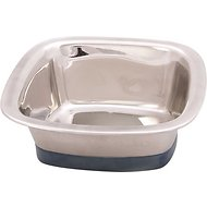 OurPets Durapet Premium Stainless Steel Square Dog Bowl, Medium, 4 cups