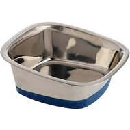OurPets Durapet Premium Stainless Steel Square Dog Bowl, Large, 7 cups