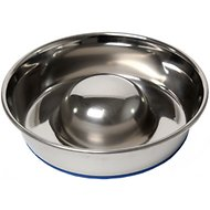 OurPets Durapet Premium Stainless Steel Slow-Feed Dog Bowl, Small, 3 cups