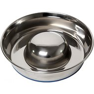 OurPets Durapet Premium Stainless Steel Slow-Feed Dog Bowl, Medium, 5 cups