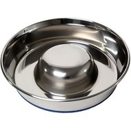 OurPets Durapet Premium Stainless Steel Slow-Feed Dog Bowl, Large, 8 cups