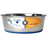 OurPets Durapet Premium Rubber-Bonded Stainless Steel Bowl, Medium, 7 cups