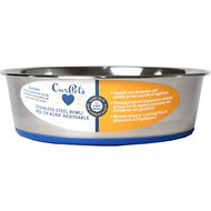 OurPets Durapet Premium Rubber-Bonded Stainless Steel Bowl, Large, 11 cups