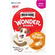 Milk-Bone Wonder Bones Paw Rockers Mini Chicken Flavored Dog Treats, 4 count
