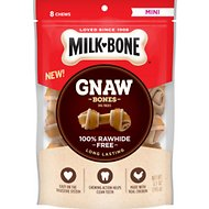Milk-Bone Gnaw Bones Mini Chicken Flavored Bone Dog Treats, 8 count