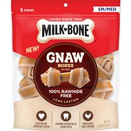 Milk-Bone Gnaw Bones Small/Medium Chicken Flavored Bone Dog Treats, 5 count
