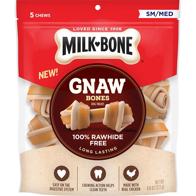 Milk-Bone Gnaw Bones Small/Medium Chicken Flavored Bone ...