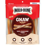 Milk-Bone Gnaw Bones Small Chicken Flavored Stick Dog Treats, 12 count