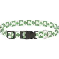 Yellow Dog Design Shamrocks Dog Collar, Large