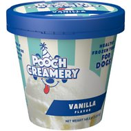 Pooch Creamery Vanilla Flavor Ice Cream Mix Dog Treat, 5.25-oz cup
