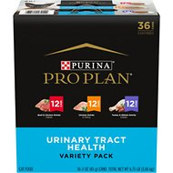 Purina Pro Plan FOCUS Classic Urinary Tract Health Formula Wet Cat Food Variety Pack, 3-oz can, case of 36