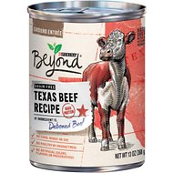 Purina Beyond Grain-Free Texas Beef Recipe Canned Dog Food, 13-oz, case of 12