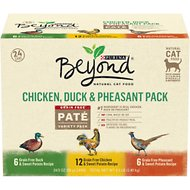 Purina Beyond Grain-Free Chicken, Duck & Pheasant Variety Pack Canned Cat Food, 3-oz, case of 24