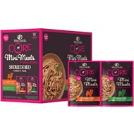 Wellness CORE Mini Meals Chicken & Turkey, Chicken & Lamb Shredded Variety Pack Dog Food Pouches, 3-oz, pack of 12