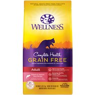 Wellness Complete Health Salmon & Salmon Liver Grain-Free Adult Dry Cat Food, 5.5-lb bag