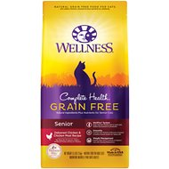 Wellness Complete Health Chicken & Deboned Chicken Grain-Free Senior Dry Cat Food, 5.5-lb bag