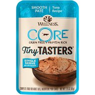 Wellness CORE Tiny Tasters Tuna Pate Grain-Free Cat Food Pouches, 1.75-oz, pack of 12
