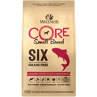 Wellness CORE SIX Salmon & Chickpeas Recipe Small Breed Dry Dog Food, 4-lb bag
