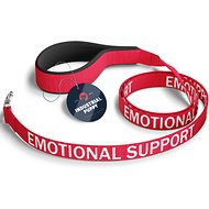 Industrial Puppy Emotional Support Dog Harness & Leash Set, Red, XX-Small