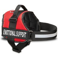 Industrial Puppy Emotional Support Dog Harness, Red, Small