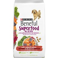 Purina Beneful Superfood Blend With Salmon Dry Dog Food, 4.25-lb bag